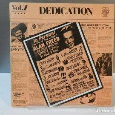 Discos de vinil: DISCO VINILO LP. THE ANGELS, THE SPANIELS, THE THREE FRIENDS – DEDICATION VOL.7. 33 RPM.. Lote 293260873