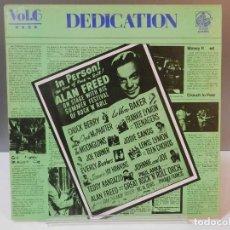 Discos de vinil: DISCO VINILO LP. LITTLE RICHARD, THE HALOS, THE CAPRIS, THE FLAMINGOS – DEDICATION VOL.6. 33 RPM.. Lote 293261208