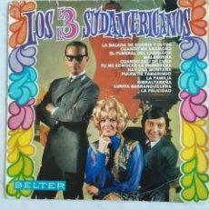 Discos de vinilo: LOS 3 SUDAMERICANOS BELTER LP CUANDO SALI DE CUBA. Lote 293282553