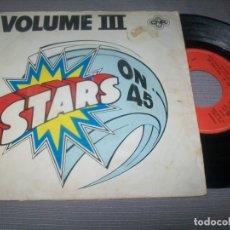 Dischi in vinile: STARS ON 45 - VOLUME LLL - EXITOS ENTRELAZADOS - CNR - 1981 - ESCASO CARA B - STARS ON THEME. Lote 293295733