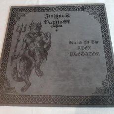 Discos de vinilo: IMPIOUS BAPTISM -WRATH OF THE APEX PREDATOR- (2013) LP DISCO VINILO. Lote 293304518