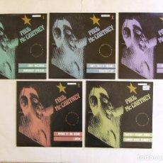Discos de vinilo: BEATLES PAUL MCCARTNEY JUEGO 5 SINGLES PROMOCIONALES CHOBA B CCCP TWENTY FLIGHT ROCK + 9 ESPAÑA. Lote 293338293