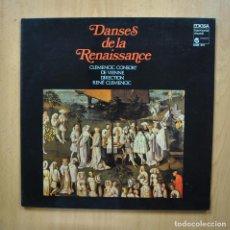 Discos de vinilo: VARIOS - DANSES DE LA RENAISSANCE - LP. Lote 293338993