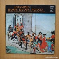 Discos de vinilo: PAVANES - ESTAMPIES BASSES DANSES - LP. Lote 293339008
