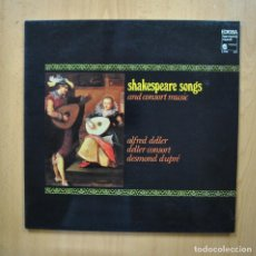 Discos de vinilo: VARIOS - SHAKESPEARE SONGS AND CONSORT MUSIC - LP. Lote 293339013