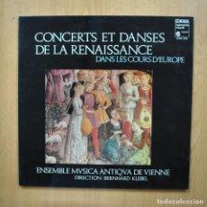 Discos de vinilo: BERNHARD KLEBEL - CONCERTS ET DANSES DE LA RENAISSANCE - LP. Lote 293339028