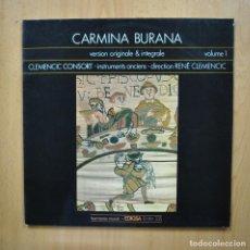 Discos de vinilo: VARIOS - CARMINA BURANA VOLUME 1 - LP. Lote 293339043