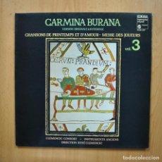 Discos de vinilo: VARIOS - CARMINA BURANA VOL 3 - LP. Lote 293339053