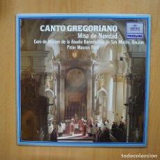 Discos de vinilo: VARIOS - CANTO GREGORIANO MISA DE NAVIDAD - LP. Lote 293339883