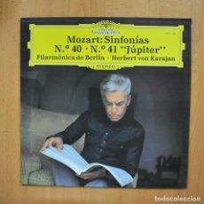 Discos de vinilo: KARAJAN - MOZART SINFONIAS N 40 N 41 JUPITER - LP. Lote 293339893