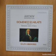Discos de vinilo: DOMENICO SCARLATI / RALPH KIRKPATRICK - SONATAS PARA CLAVE - LP. Lote 293339968