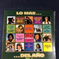 Discos de vinilo: LO MÁS DEL AÑO VOL. 3. Lote 293341433