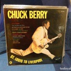Discos de vinil: CAJJ143 LP CHUCK BERRY ESPAÑA 1989 ZAFIRO ST LOUIS TO LIVERPOOL ESTUPENDISIMO. Lote 293344228
