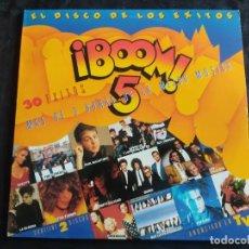 Dischi in vinile: BOOM 5 - DOBLE LP EMI 1989 -HEROES SILENCIO - DEPECHE MODE - ROXETTE - THE CURE - 30 EXITOS 80S 179. Lote 293349788
