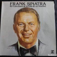 Discos de vinilo: VINILO/FRANK SINATRA/40 CANCIONES DE LA VIDA DE UN HOMBRE/DOBLE LP. N 182. Lote 293350598