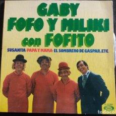 Discos de vinilo: GABY, FOFO Y MILIKI CON FOFITO – SUSANITA / LOS SOLDADOS DE LA RISA - SINGLE SPAIN 1975 N. 210. Lote 293364348