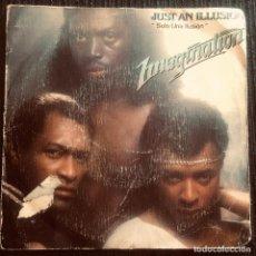 Discos de vinilo: 'JUST AN ILLUSION', DE IMAGINATION. MÚSICA SOUL. SINGLE VINILO 2 TEMAS. MOVIEPLAY. 1982.. Lote 293368458