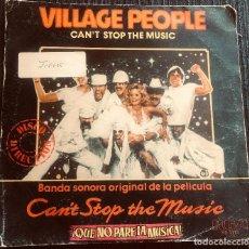 Discos de vinilo: 'CAN'T STOP THE MUSIC', DE VILLAGE PEOPLE. DISCO / DANCE. SINGLE VINILO 2 TEMAS. RCA. 1980.. Lote 293369948