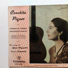 """Discos de vinilo: CONCHITA PIQUER. PICADITA DE VIRUELA. ROMANCE DE VALENTIA. CANCIONES DE""""PUENTE DE COPLAS"""". Lote 293372648"""
