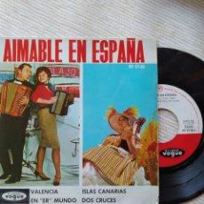 Discos de vinilo: AIMABLE EN ESPAÑA- DISQUES VOGE. Lote 293416773