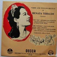 Discos de vinilo: RENATA TEBALDI. SOPRANO. VERDI AND PUCCINI RECITAL. IL TROVATORE. TOSCA. MANON LESCAUT.. Lote 293418508
