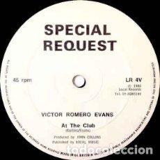 Discos de vinilo: VICTOR ROMERO EVANS / THE DETONATORS – AT THE CLUB / LIFT OFF. Lote 293449838