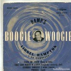 Discos de vinilo: LIONEL HAMPTON / FACIL DE AMAR + 3 (EP COLUMBIA 1958). Lote 293462518