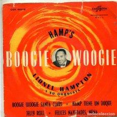 Discos de vinilo: LIONEL HAMPTON / BOOGIE WOOGIE SANTA CLAUS + 3 (EP COLUMBIA 1958). Lote 293462638