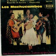 Discos de vinilo: LOS MACHUCAMBOS / LA PETENERA + 3 (EP DECCA 1960). Lote 293475023