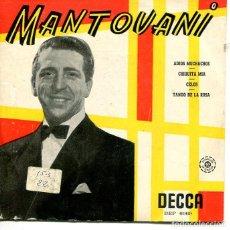 Discos de vinilo: MANTOVANI / ADIOS MUCHACHOS + 3 (EP DECCA 1958). Lote 293478088