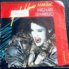 Discos de vinilo: 'MANIAC', DE MICHAEL SEMBELLO. BSO DE FLASHDANCE. DISCO / DANCE. SINGLE VINILO 2 TEMAS. 1983.. Lote 293497728