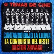 Discos de vinilo: 6 TEMAS DE CINE. Lote 293502453