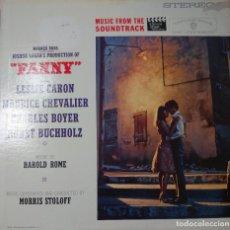 Discos de vinilo: LESLIE CARÓN Y MAURICE CHEVALIER BANDA SONORA DE LA PELÍCULA FANNY LP EDITADO EN USA POR EL...... Lote 293506948