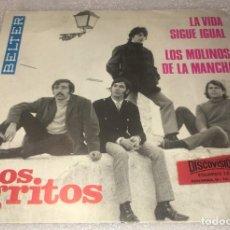 Discos de vinilo: SINGLE LOS GRITOS - LA VIDA SIGUE IGUAL - LOS MOLINOS DE LA MANCHA - BELTER - PEDIDO MINIMO 7€. Lote 293513328