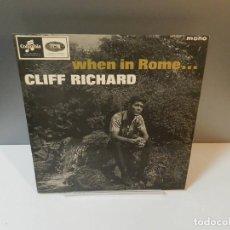 Discos de vinil: DISCO VINILO LP. CLIFF RICHARD – WHEN IN ROME. 33 RPM.. Lote 293521198