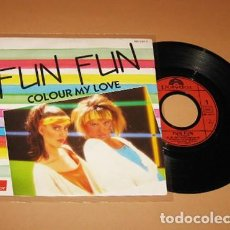 Discos de vinilo: FUN FUN - COLOR MY LOVE - SINGLE - 1984 - ITALO DISCO. Lote 293521948