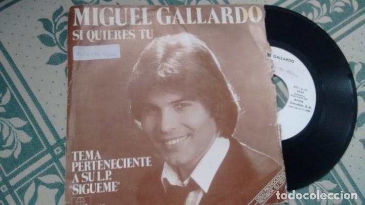 SINGLE (VINILO) -PROMOCION-DE MIGUEL GALLARDO AÑOS 80 (Música - Discos - Singles Vinilo - Solistas Españoles de los 70 a la actualidad)