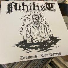 Discos de vinilo: NIHILIST DROWNED THE DEMOS LP DISCO DE VINILO ENTOMBED HELLACOPTERS. Lote 293572683