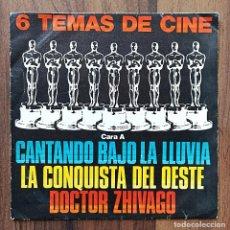 Discos de vinilo: CARÁTULA SINGLE 6 TEMAS DE CINE - SOLO LA CARÁTULA, SIN VINILO. Lote 293578808