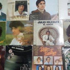 Discos de vinilo: LOTE 16 VINILOS. JULIO IGLESIAS, ALBERT HAMMOND.... Lote 293579708