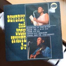 Discos de vinilo: BEVERLEY AND JOSH WHITE JR. - BEVERLY & JOSH WHITE JNR. (REALM, UK, 1964). Lote 293603523