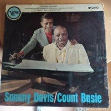Discos de vinilo: SAMMY DAVIS JR. - SAMMY DAVIS / COUNT BASIE (VERVE RECORDS, UK, 1965). Lote 293603733