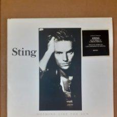 Discos de vinilo: STING. NOTHING LIKE THE SUN. 2 LP. ESPAÑA 1987. AM 383912-1. VG+, VG+, VG+. CON INSERTO.. Lote 293618323