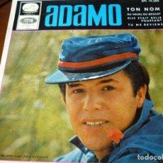 Discos de vinilo: ADAMO- TON NOM- SINGLE 45 RPM- AÑOS 60. Lote 293625938