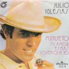 Discos de vinil: JULIO IGLESIAS - MINUETO (EDITADO EN PORTUGAL). Lote 293626263