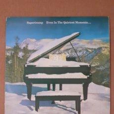 Discos de vinilo: SUPERTRAMP. EVEN IN THE QUIETEST MOMENTS... 1977 ESPAÑA, AMLK 64634. DISCO VG+. CARÁTULA VG+.. Lote 293628248
