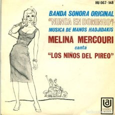 Discos de vinilo: MELINA MERCOURI (BSO LOS NIÑOS DEL PIREO) EP UA 1969. Lote 293636088