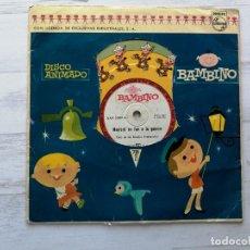 "Discos de vinilo: CORO DE LAS ESCUELAS AVEMARIANAS – DISCO ANIMADO BAMBINO 8"" 78 RPM VINILO 1961 INFANTIL. Lote 293642183"