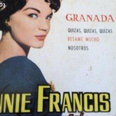 Discos de vinilo: CONNIE FRANCIS CANTA EN ESPAÑOL EP. Lote 293646393