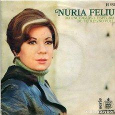 Dischi in vinile: NURIA FELIU / NO ENCENGUIS L'ESPELMA / DE TU RES NO VULL (SINGLE HISPAVOX 1969). Lote 293652143